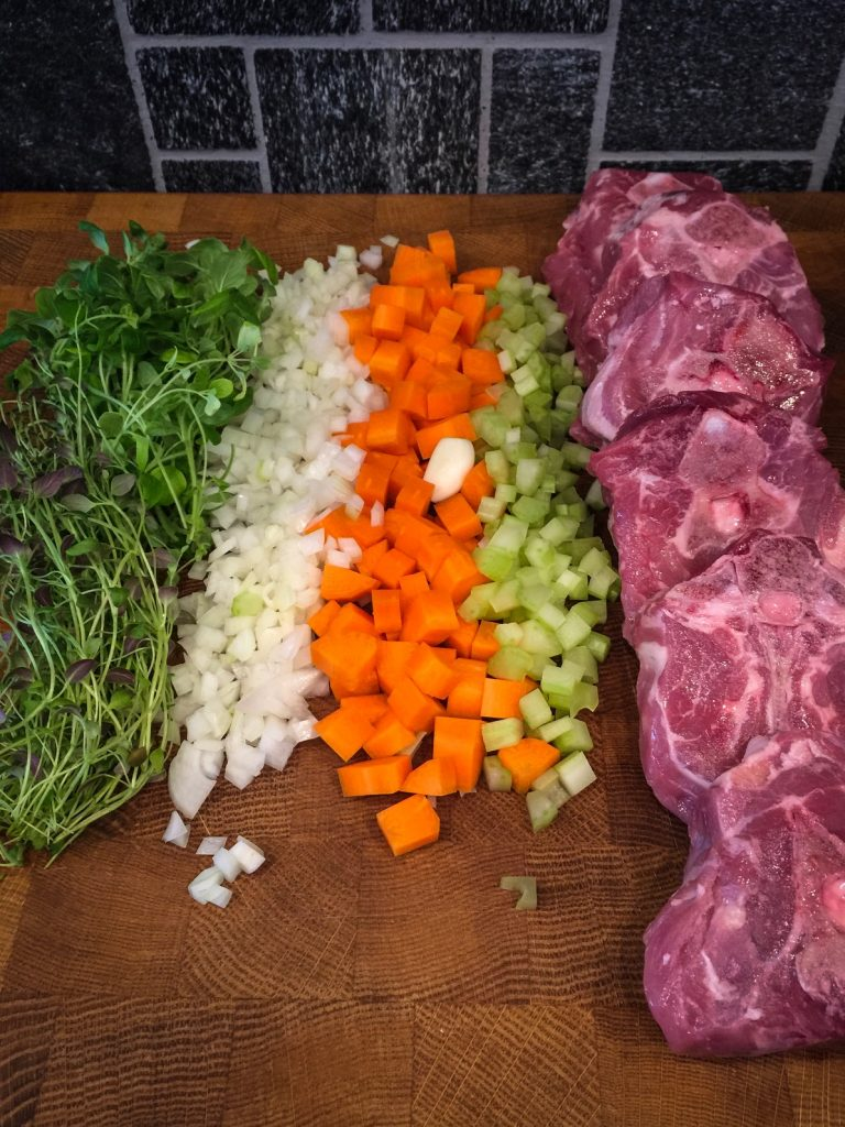 Osso Buco ainekset